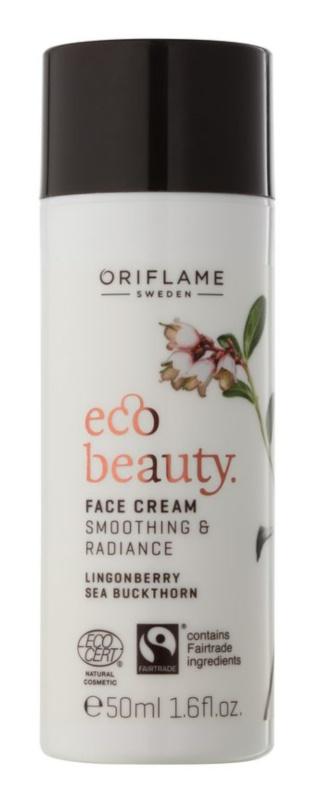Oriflame Eco Beauty crema de día para iluminar y alisar la piel