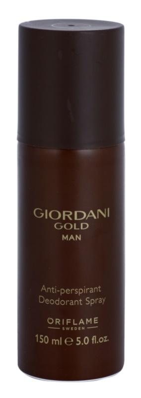 Oriflame Giordani Gold Man Deo Spray voor Mannen 150 ml