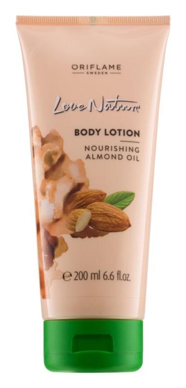 Oriflame Love Nature leche corporal con aceite de almendras