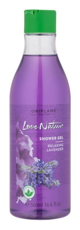 Oriflame Love Nature gel de duche com aroma de lavanda