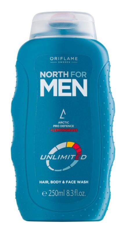 Oriflame North For Men żel pod prysznic do twarzy, ciała i włosów