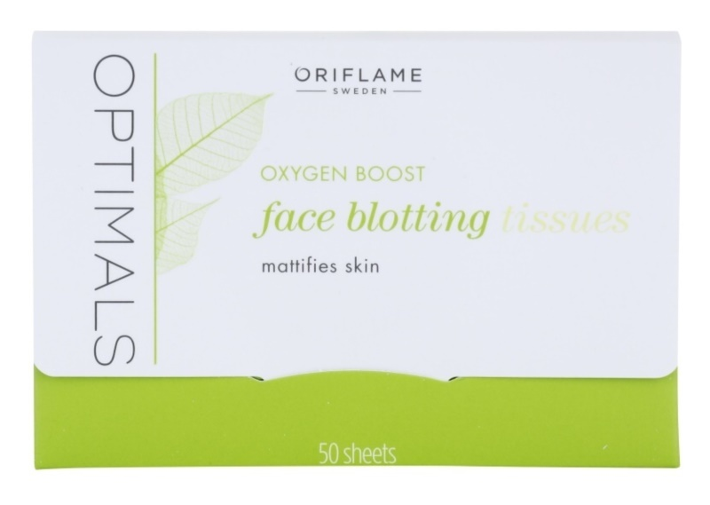 Oriflame Optimals Oxygen Boost mattító papír