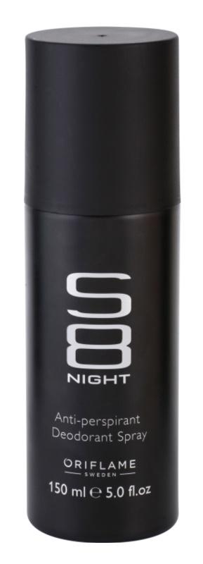 Oriflame S8 Night Deo Spray for Men 150 ml