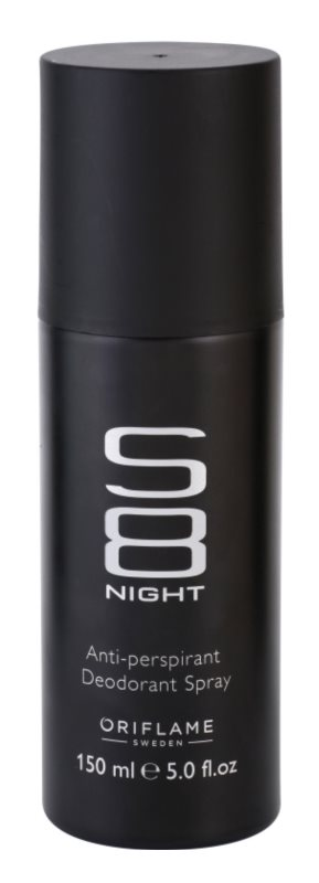 Oriflame S8 Night Deo Spray voor Mannen 150 ml