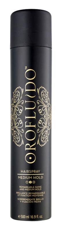 Orofluido Beauty spray fixador para cabelo com fixação média