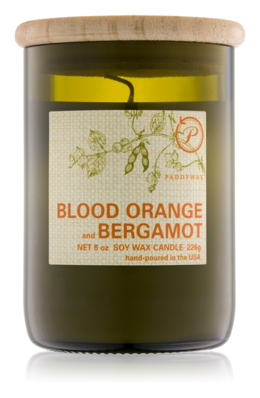 Paddywax Eco Green Blood Orange & Bergamot Scented Candle 226 g