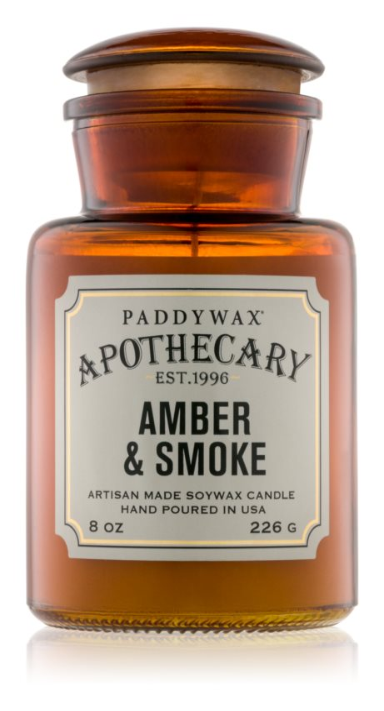 Paddywax Apothecary Amber & Smoke mirisna svijeća 226 g
