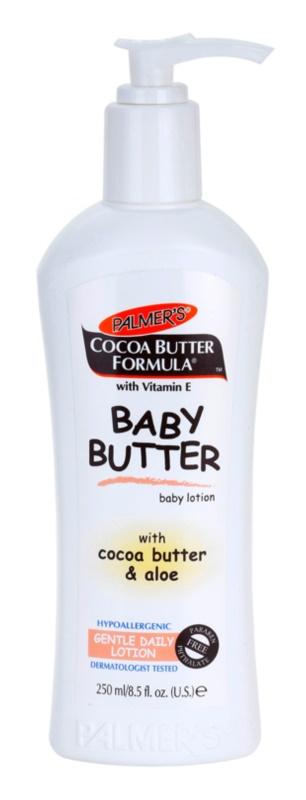 Palmer's Baby Cocoa Butter Formula leite corporal hipoalergénico com vitamina E