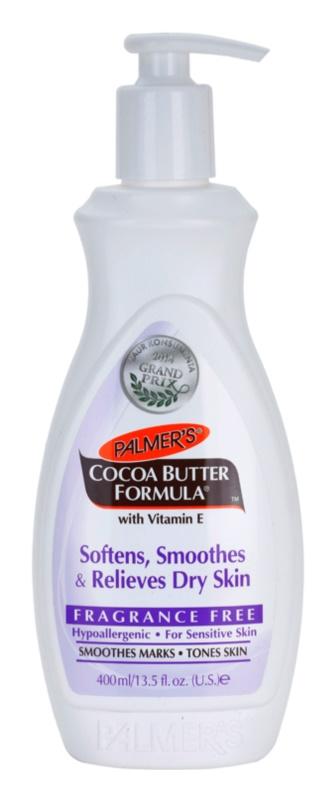Palmer's Hand & Body Cocoa Butter Formula bálsamo corporal para pieles secas con efecto alisante sin perfume