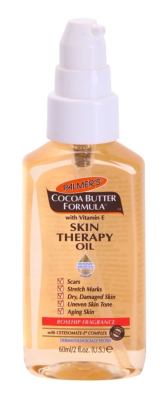 Palmer's Hand & Body Cocoa Butter Formula Multi-Function Dry Face and Body Oil with Rosehip Aroma
