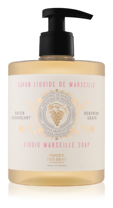 Panier des Sens Renewing Grape tekuté mydlo na tvár, ruky a telo