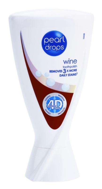 Pearl Drops Wine pasta de dientes blanqueadora de manchas profundas