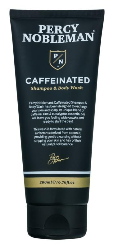 Percy Nobleman Hair champú para hombre con cafeína para cuerpo y cabello