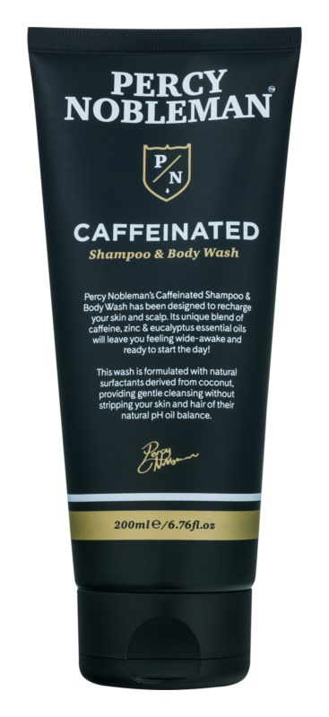 Percy Nobleman Hair šampon s kofeinom za moške za telo in lase