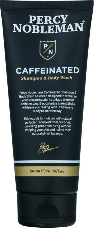 Percy Nobleman Hair σαμπουάν καφεϊνης για άντρες για σώμα και μαλλιά