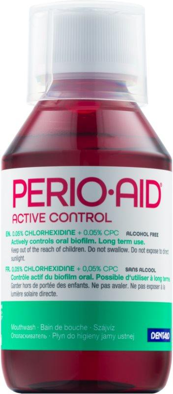 Perio•Aid Active Control вода за уста за спазване на здрави венци при лекуване на пародонтит