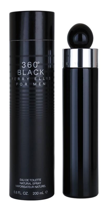 Perry Ellis 360° Black Eau de Toilette für Herren 200 ml