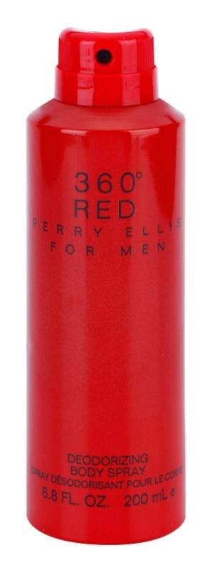 Perry Ellis 360° Red telový sprej pre mužov 200 ml
