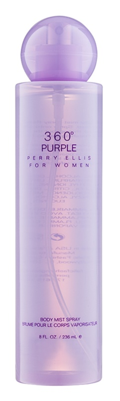 Perry Ellis 360° Purple testápoló spray nőknek 236 ml