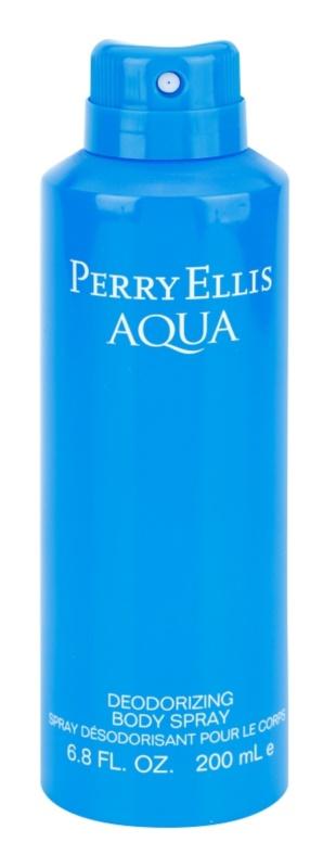 Perry Ellis Aqua tělový sprej pro muže 200 ml