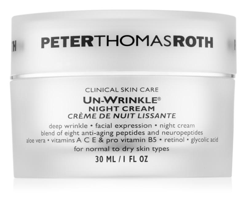 Peter Thomas Roth Un-Wrinkle crema antiarrugas de noche