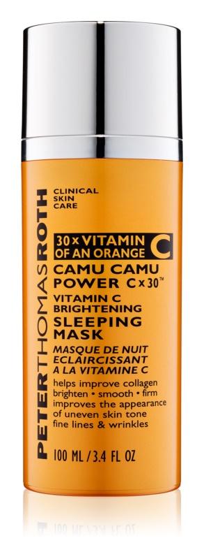 Peter Thomas Roth Camu Camu Power C x 30™ máscara iluminadora de noite com vitamina C