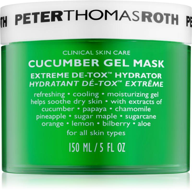 Peter Thomas Roth Cucumber De-Tox masque gel hydratant visage et contour des yeux