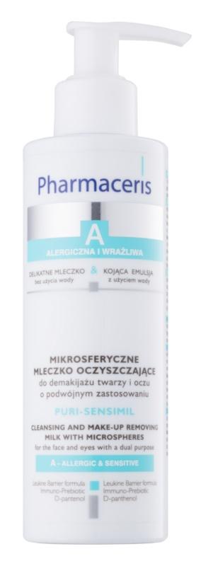 Pharmaceris A-Allergic&Sensitive Puri-Sensimil čistiace a odličovacie mlieko pre citlivú a alergickú pleť