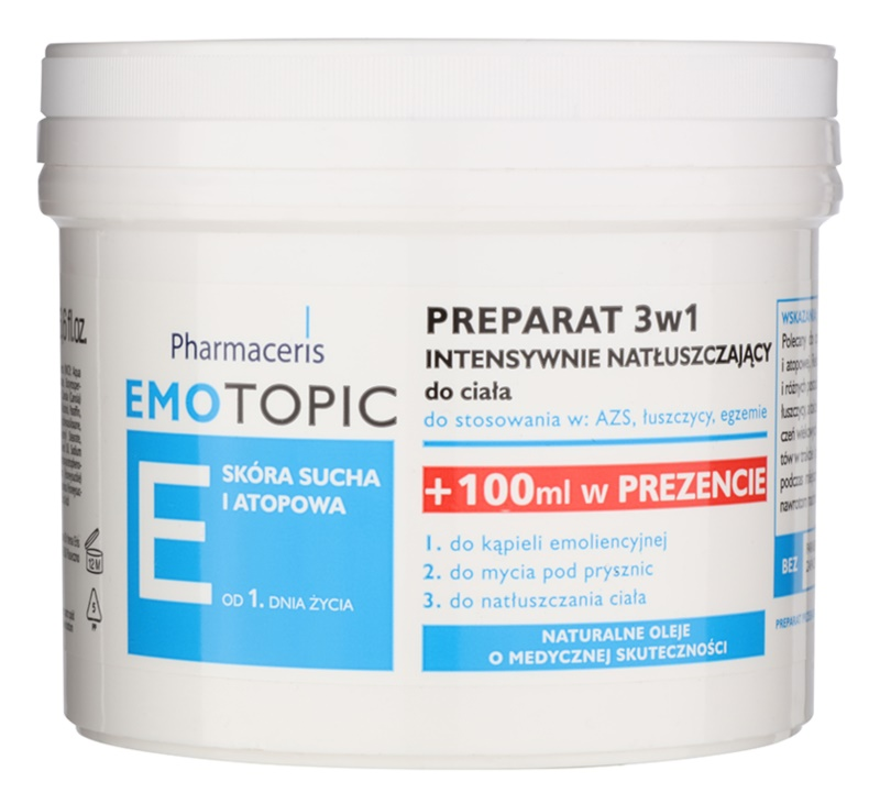 Pharmaceris E-Emotopic intensives Pflegeöl für den Körper für Kinder und Erwachsene 3 in1
