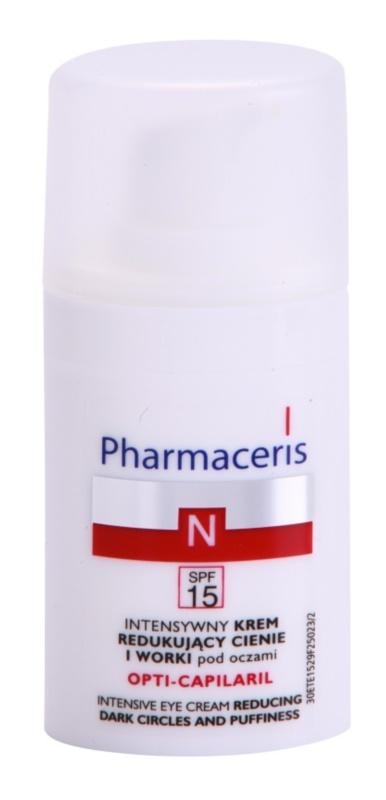 Pharmaceris N-Neocapillaries Opti-Capilaril crema rejuvenecedora para contorno de ojos antibolsas y antiojeras