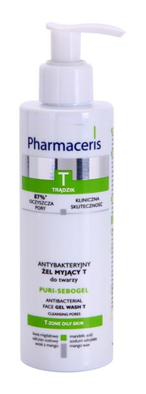 Pharmaceris T-Zone Oily Skin Puri-Sebogel antibakteriální čisticí gel pro problematickou pleť, akné