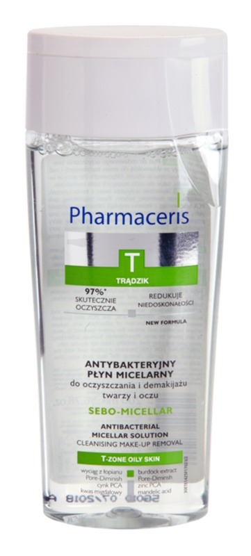 Pharmaceris T-Zone Oily Skin Sebo-Micellar Micellar Cleansing Water for Problematic Skin, Acne