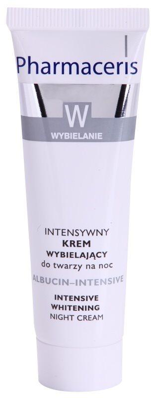 Pharmaceris W-Whitening Albucin-Intesive Intensivcreme für die Nacht  für Pigmentflecken