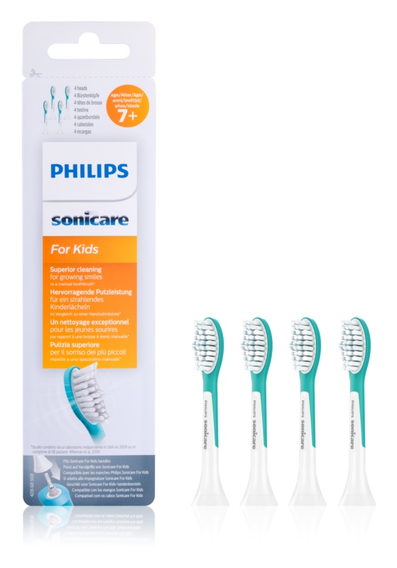Philips Sonicare For Kids HX6044/33 Replacement Heads For Toothbrush 4 pcs