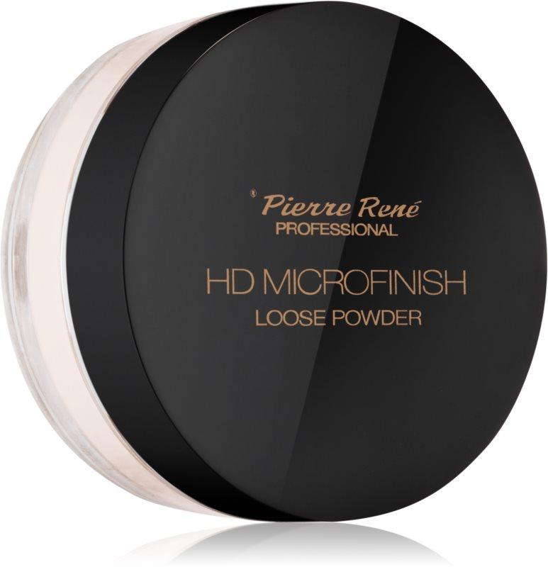 Pierre René HD Microfinish transparentný sypký púder