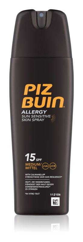 Piz Buin Allergy sprej na opalování SPF 15