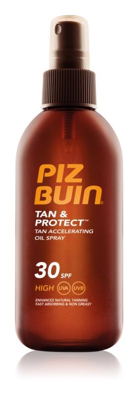 Piz Buin Tan & Protect napozást elősegítő védő olaj SPF30