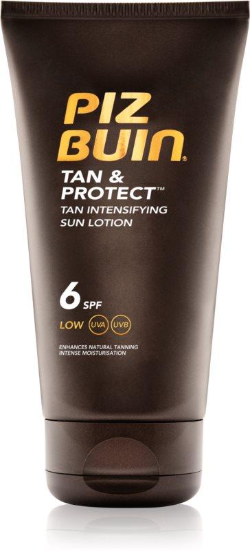 Piz Buin Tan & Protect leite protetor para acelerar o bronzeado SPF 6