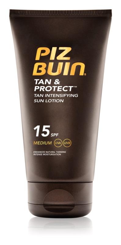 Piz Buin Tan & Protect schützende Sonnenlotion für schnellere Bräune LSF 15