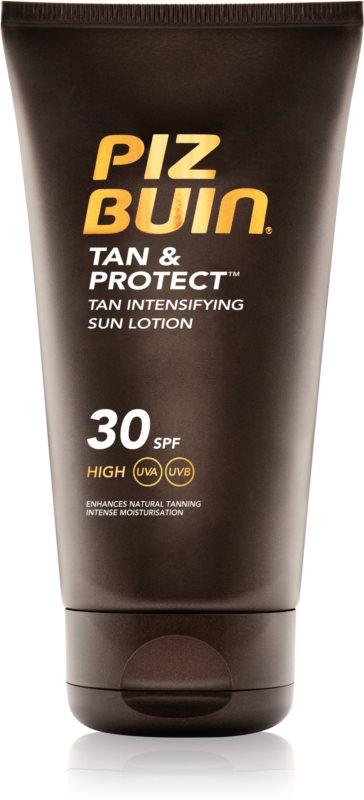 Piz Buin Tan & Protect ochranné mlieko urýchľujúce opálenie SPF 30