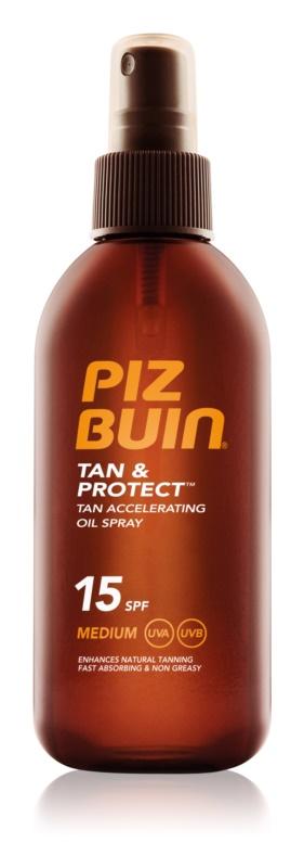 Piz Buin Tan & Protect napozást elősegítő védő olaj SPF15
