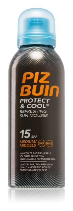 Piz Buin Protect & Cool osvěžující opalovací pěna SPF 15