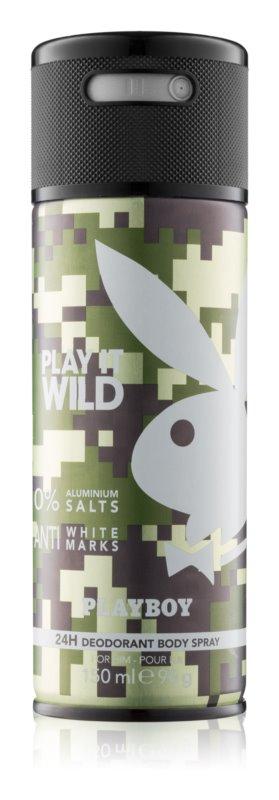 Playboy Play it Wild Deo Spray voor Mannen 150 ml