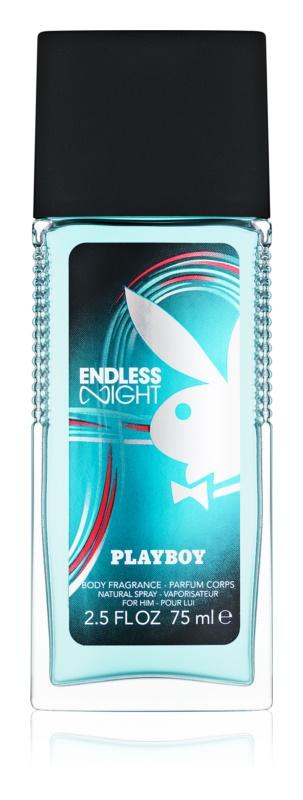 Playboy Endless Night deodorant s rozprašovačom pre mužov 75 ml