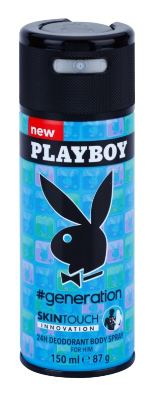Playboy Generation Skin Touch Deo Spray voor Mannen 150 ml