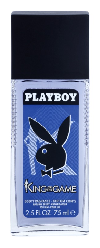 Playboy King Of The Game Deo mit Zerstäuber für Herren 75 ml