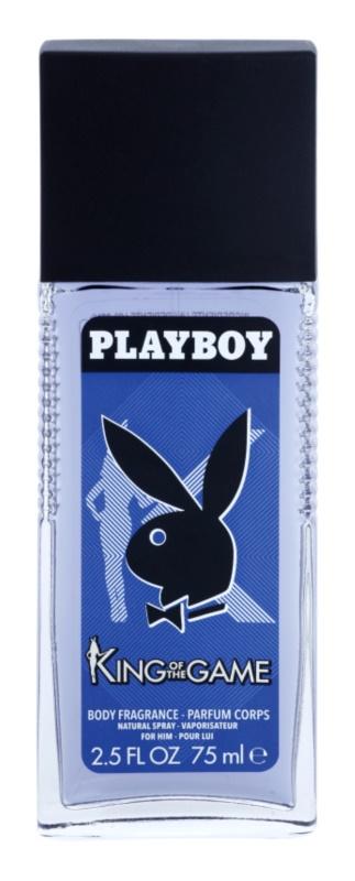 Playboy King Of The Game deodorant s rozprašovačom pre mužov 75 ml