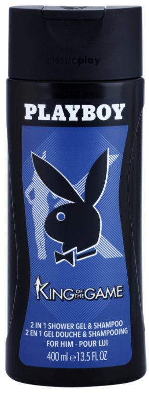 Playboy King Of The Game Duschgel für Herren 400 ml