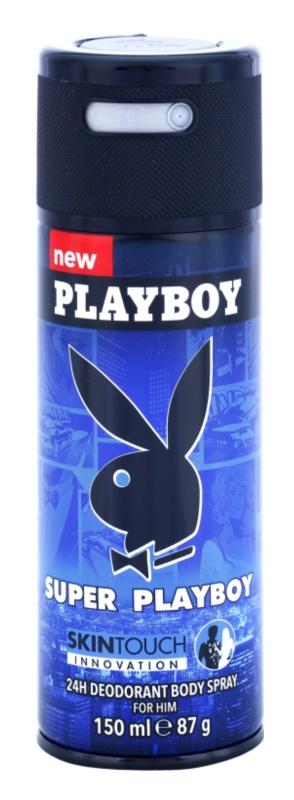 Playboy Super for Him Skin Touch deospray pre mužov 150 ml