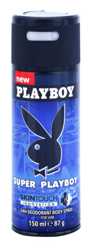 Playboy Super Playboy for Him Skin Touch dezodorant w sprayu dla mężczyzn 150 ml